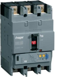Автоматические выключатели, h250,  регулируемый тепловой и магнитный расцепитель, 3P,  125 A,  50kA