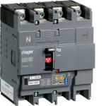 Автоматические выключатели, h250,  регулируемый тепловой и магнитный расцепитель, 4P,  125 A,  50kA