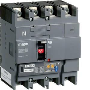 Автоматические выключатели, h250,  регулируемый тепловой и магнитный расцепитель, 4P,  250 A,  50kA