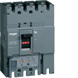 Автоматические выключатели, h630,  регулируемый тепловой и магнитный расцепитель, 4P,  250 A,  50kA