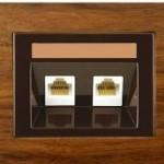 Tелефонная розетка 2xRJ11 без рамки серия eXPress