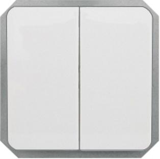 Выключатель 2-клавишный (5) без рамки серии LuXe LX 200