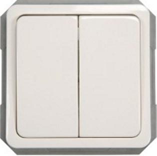 Переключатель 2-клавишный (6+6) без рамки серии SPectrum