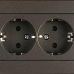 Розетка 2-местная с заземлением без рамки серия eXPress