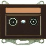 Телевизионная розетка промежуточная (TV+R) — 10dB без рамки серии eXPress