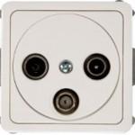 Телевизионная розетка промежуточная (TV+R+SAT) -10dB без рамки серии SPectrum SP 300