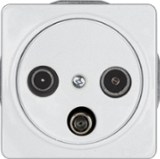 Телевизионная розетка оконечная (TV+R+SAT) без рамки серии LuXe LX 200