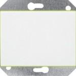 Выключатель 2-пoлюсный с подсветкой без рамки