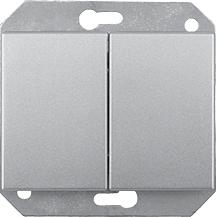 Переключатель 2-клавишный (6+6) без рамки серия eXpress Classic