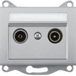 Телевизионная розетка промежуточная (TV+R) — 8DB без рамки