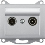 Телевизионная розетка промежуточная (TV+R) — 14DB без рамки