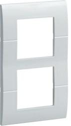 Рамка двукратная, четырехмодульная, вертикальная (фиксация центров 57мм)