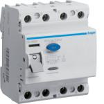 Устройство защитного отключения 4P, 63A, 30mA, A-тип, Hager