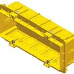 Коробка прямоугольная для кирпичных стен PM7