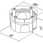 Коробка VM2 установочная под гипсокартон
