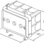 Коробка VM3 установочная под гипсокартон