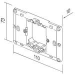 Рамка крепёжная 2/3 модуля с шурупами