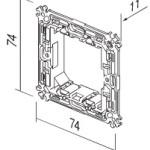 Монтажная рамка металлическая 2M без шурупов и лапок