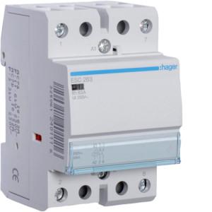 Контактор модульный, 2н.о., AC1/AC7a 63A, Uупр.=230В 50/60Гц
