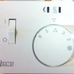 Термостат теплого пола с датчиком температуры пола, без рамки