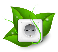 green-energy-concept-power-outlet-with-foliage-background